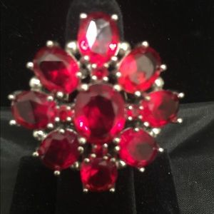 Natural red Topaz ring